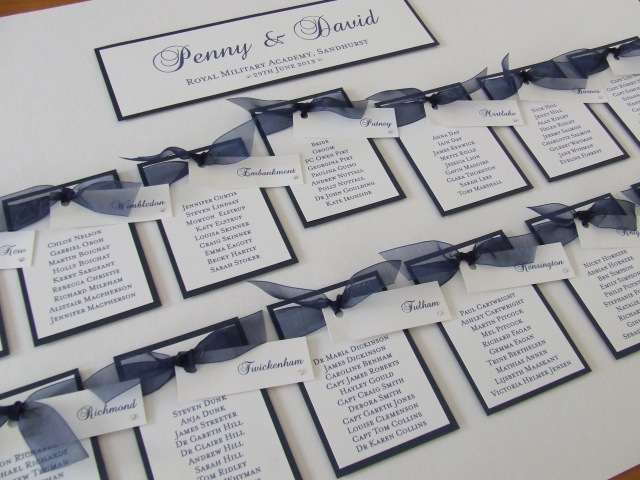 Blue Ribbon Table Plan