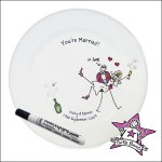 purple ronnie wedding plate