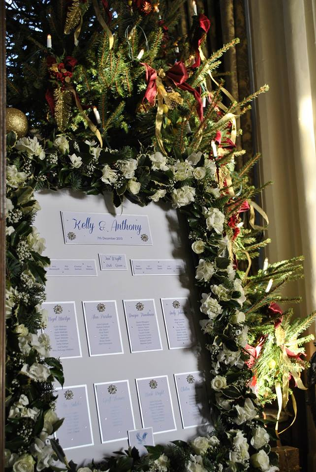 Floral Wedding Table Plans For Winter Weddings Wedding